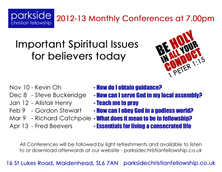 Monthly Conferences 2012-13