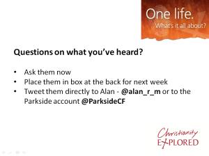 Questions Week 1