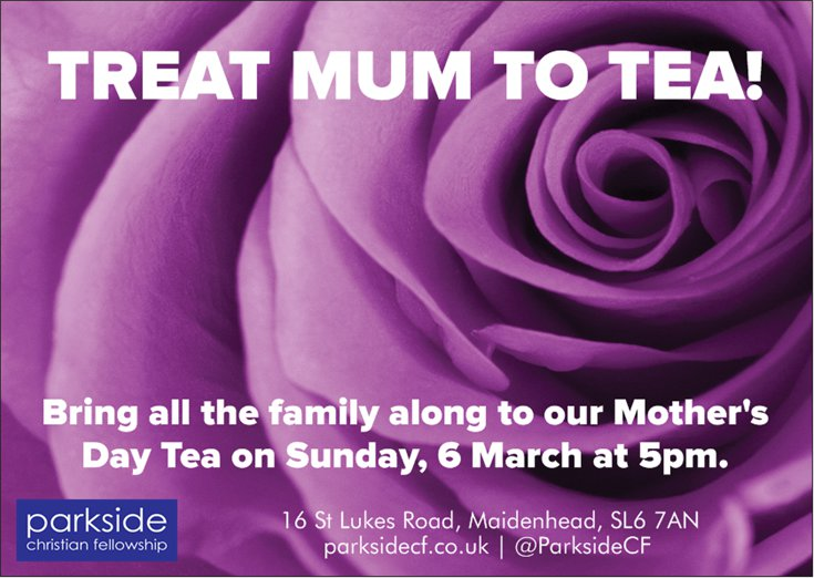 Mother's Day Tea invite